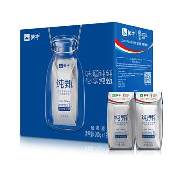 蒙牛纯甄常温酸牛奶200g/盒(12盒/箱)