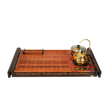 金灶正品黑檀木红花梨木手工精雕实木茶盘泡茶机大号茶海V816A