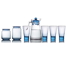 乐美雅凝彩清莹水具储物7件套(冰蓝)LC-Y60