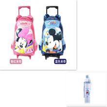 迪士尼米奇2轮拉杆书包D15001+哆啦A梦风尚单层运动水壶DM-1307