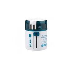 英国蓝旅(TravelBlue)双USB魔方世界万用转换插座270