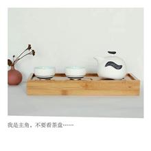 拓牌一壶两杯雪花釉茶具(企鹅壶)