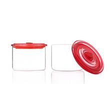 怡福欧臻彩耐热玻璃密封储物罐2件套EGS001T