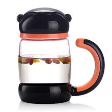 博乐美猴双层手柄茶隔玻璃杯BL018(280ml)