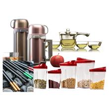 多样屋雅致保温壶TA210601255EC+多样屋乐彩单柄耐热玻璃茶具组TA210201095DB+