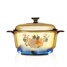 美国康宁晶彩透明锅(2.25L花卉汤锅)VS-22-FLR