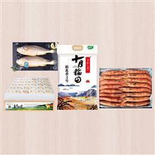 三都港L1的阿根廷红虾2kg盒装(30-35只)+十月稻田稻花香米2号5kg+花千树柴鸡蛋30枚+三