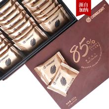 通用食品85%纯脂黑巧克力252g/盒x2盒