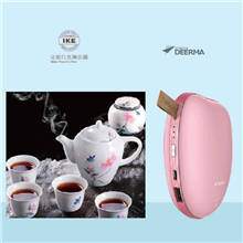 德尔玛Deerma暖手宝NS01+生活元素骨质瓷茶具SY-SW601C-蝶恋花