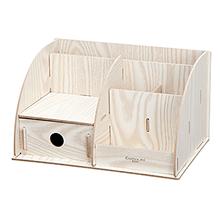 齐心木质DIY组合收纳盒B2231