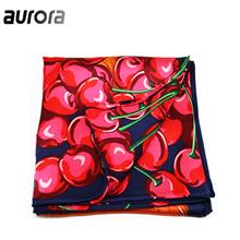 奥罗拉(aurora)小松鼠的樱桃系列丝巾B10-009
