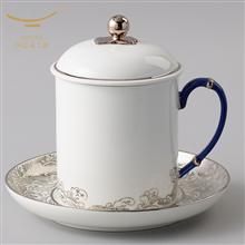 国瓷永丰源海上明珠三件套会议杯办公用杯(350ml)