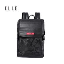 法国ELLE迷彩商务休闲男女背包EL-AT56018-BL