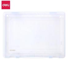 得力(deli)A4透明文件盒5702