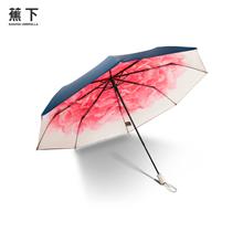 香港蕉下(BANANA UNDER)三折防紫外线小黑伞洛荷
