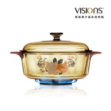 美国康宁晶彩透明锅(富贵吉祥花卉系列)VS-32-FLR