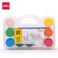得力deli12色15ml瓶装可水洗画画颜料儿童绘画涂鸦手指画美术涂鸦73873