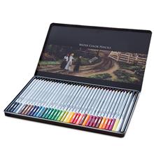 得力deli文具36色水溶性彩铅学生用彩色铅笔手绘可溶性绘画笔manbetx万博官方下载6522铁盒