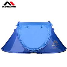 哥仑步Kolumb萨里诺双人手抛速开自动防水帐篷蓝色700135