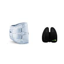 米乔minicute人体工程学腰垫黑色进口经典版(40x14cm)+诺泰(nuotai)四季款腰托护