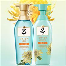 韩国爱茉莉吕花茶清漾凝润保湿特惠装400ml洗发水加400ml护发乳