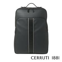 意大利切瑞蒂CERRUTI 1881斯普林系列黑色双肩背包NTR811A
