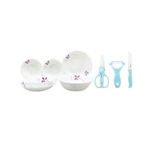 美国康宁餐具–紫色幸运草系列CR-NWP01(六件套)+酷家酷趣辅食陶瓷刀具四件套KJ-CK830