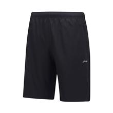 李宁男士速干运动短裤扣口袋拉链短裤AKSP551-1