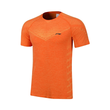 李宁短袖T恤透气吸汗户外跑步男士运动服AHSN681