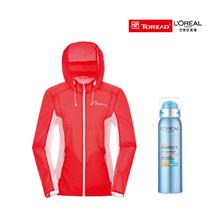 探路者女式TIEF皮肤衣TAZH82716+欧莱雅(LOREAL)多重防护城市水活隔离喷雾100g