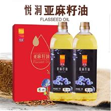 中粮悦润亚麻籽油1L×2