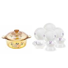 美国康宁餐具–紫色幸运草系列CR-NWP03(十件套)+美国康宁VISIONS晶