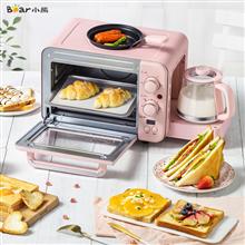 小熊(bear)多功能早餐机电烤箱煎烤机电暖壶三合一早餐神器DSL-C02B1