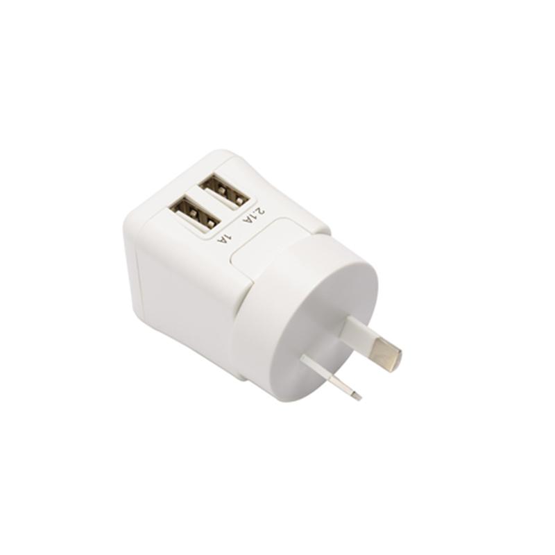 美国泰格斯Targus可折叠及更换插头双口USB充电器APA72101P